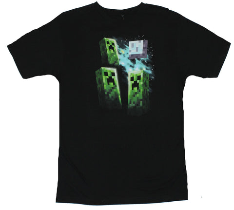 Minecraft Mens T-Shirt - Three Creeper Moon Image