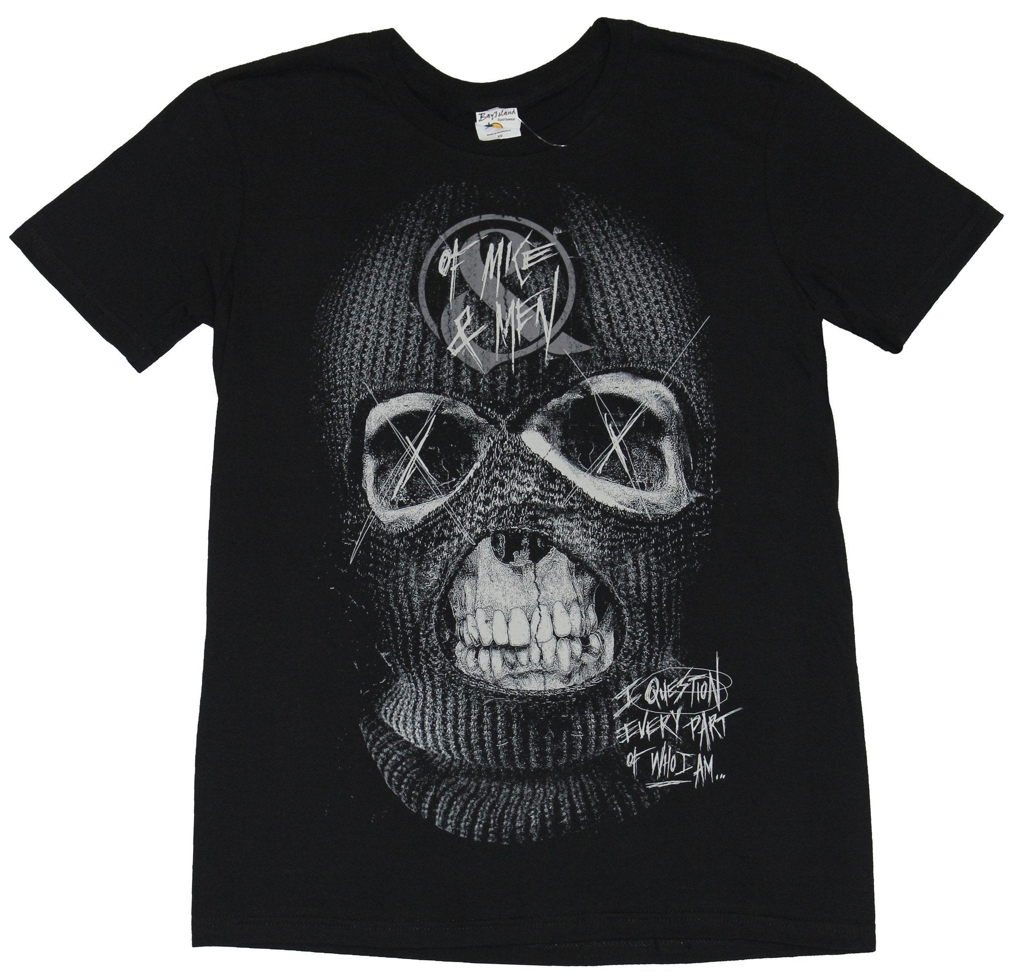 Of Mice And & Men Mens T-Shirt - Ski Mask Face I question Every Part Image