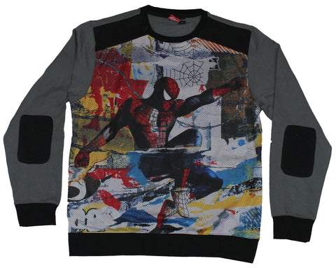 Spider-Man (Marvel Comics) Crewneck  Sweatshirt - Color Splashed Swing Image