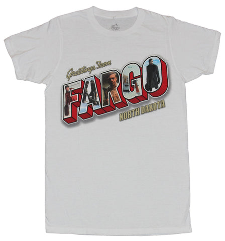 Fargo Tv Show Mens T-Shirt - Greetings From Fargo North Dakota Photo Letters