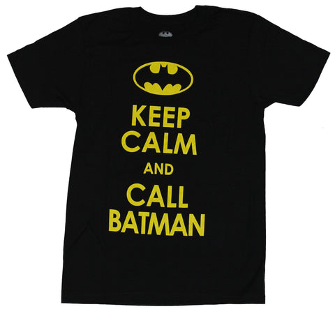Batman (DC Comics) Mens T-Shirt - Keep Calm and Call Batman Word Logo