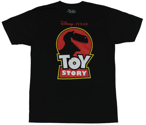 Toy Story Mens T-Shirt - Jurassic Homage Rex Toy Story Logo