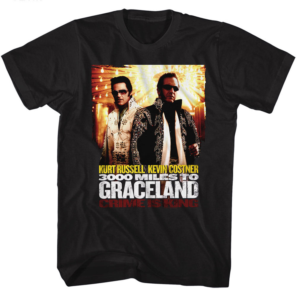 3000 Miles To Graceland Mens S/S T-Shirt - Poster - Solid Black