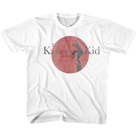 Karate Kid Youth S/S T-Shirt - 80S Logo - Solid White