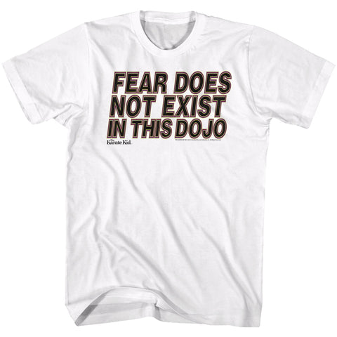 Karate Kid Adult S/S T-Shirt - No Fear - Solid White