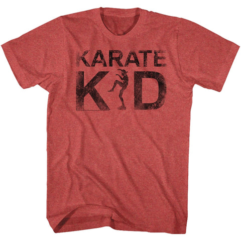 Karate Kid Adult S/S T-Shirt - Kid - Heather Red Heather