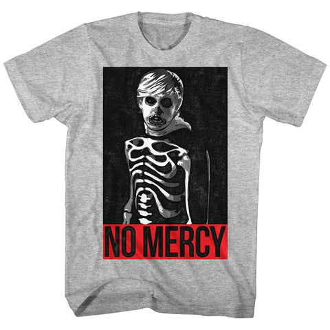 Karate Kid Adult S/S T-Shirt - No Mercy - Heather Gray Heather