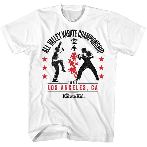 Karate Kid Adult S/S T-Shirt - All Valley '84 - Solid White