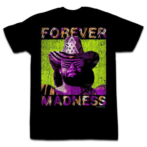 Macho Man Adult S/S T-Shirt - Forever - Solid Black