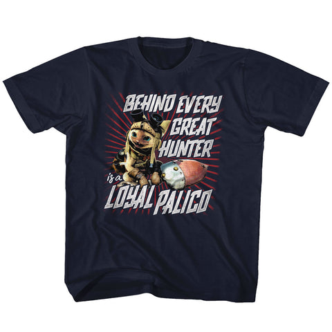 Monster Hunter Toddler S/S T-Shirt - Loyal Palico - Solid Navy