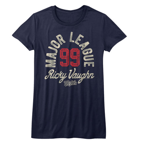 Major League Juniors S/S T-Shirt - Ricky Vaughn - Solid Navy