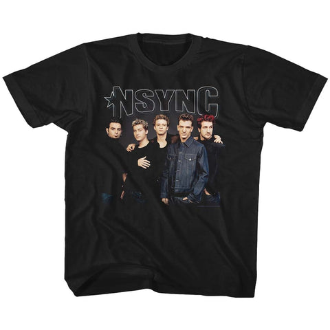 NSYNC Youth S/S T-Shirt - Stark Group Shot - Solid Black