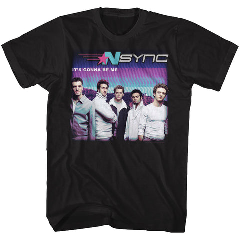 NSYNC Adult S/S T-Shirt - Gonna B Me - Solid Black