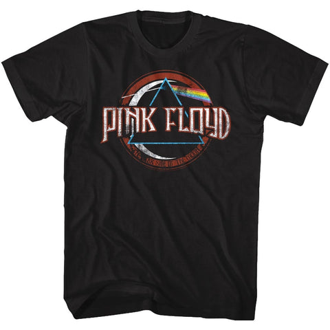 Pink Floyd Adult S/S T-Shirt - Pink Floyd - Solid Black
