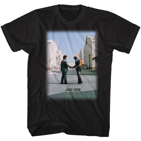 Pink Floyd Adult S/S T-Shirt - Wywh Fade - Solid Black