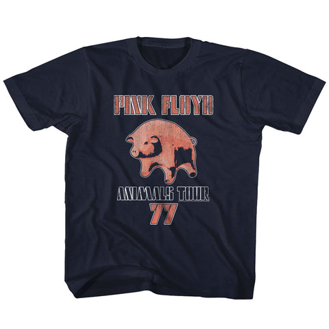 Pink Floyd Toddler S/S T-Shirt - Tour77 - Solid Navy
