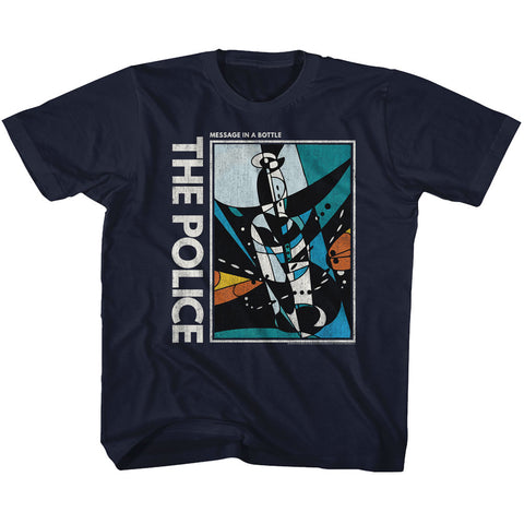 The Police Youth S/S T-Shirt - Message In A Bottle - Solid Navy