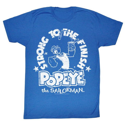 Popeye Adult S/S T-Shirt - Whiteness - Heather Royal Heather