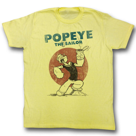 Popeye Adult S/S T-Shirt - Still4Sail - Heather Yellow Heather