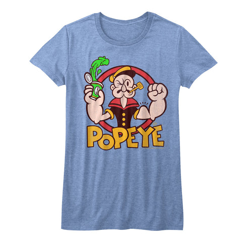 Popeye Juniors S/S T-Shirt - Spinach - Heather Royal Heather
