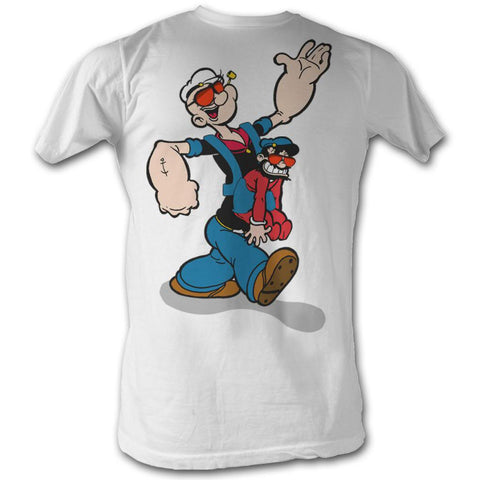Popeye Adult S/S T-Shirt - Pappa Popeye - Solid White
