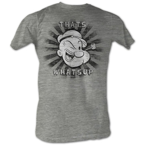 Popeye Adult S/S T-Shirt - That'S Whats Up - Heather Gray Heather