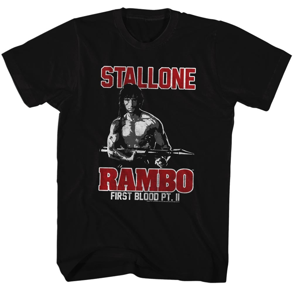Rambo Mens S/S T-Shirt - Rambo - Solid Black