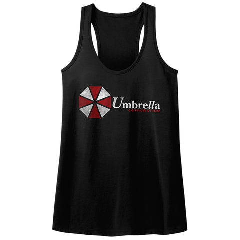 Resident Evil Ladies  Racerback - Umbrella - Solid Black