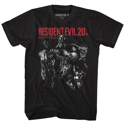 Resident Evil Adult S/S T-Shirt - Monsters - Solid Black