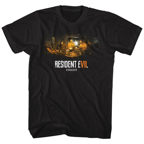 Resident Evil Adult S/S T-Shirt - Biohazard - Solid Black