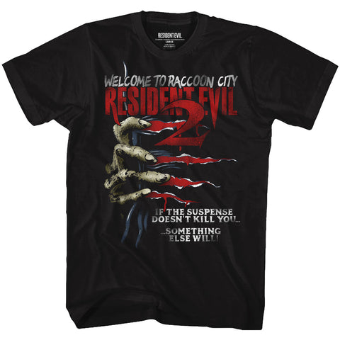 Resident Evil Adult S/S T-Shirt - Something Else - Solid Black