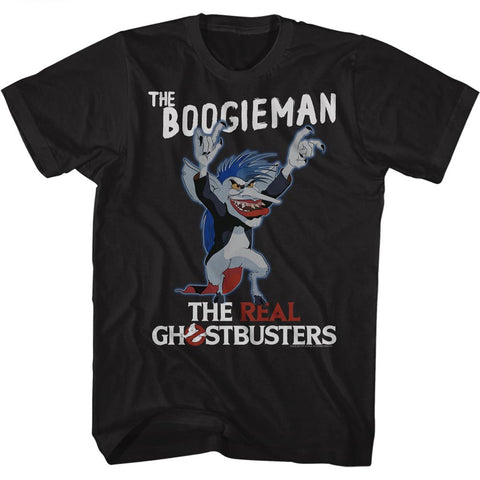 Real Ghostbusters Adult S/S T-Shirt - The Boogieman - Solid Black