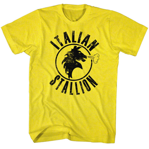 Rocky Adult S/S T-Shirt - Italian Stallion - Solid Yellow