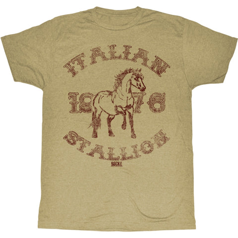 Rocky Adult S/S T-Shirt - 1967 Stallion - Heather Khaki Heather