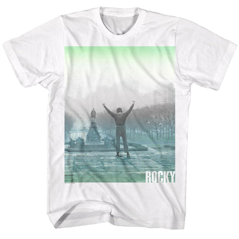 Rocky Adult S/S T-Shirt - Fade - Solid White