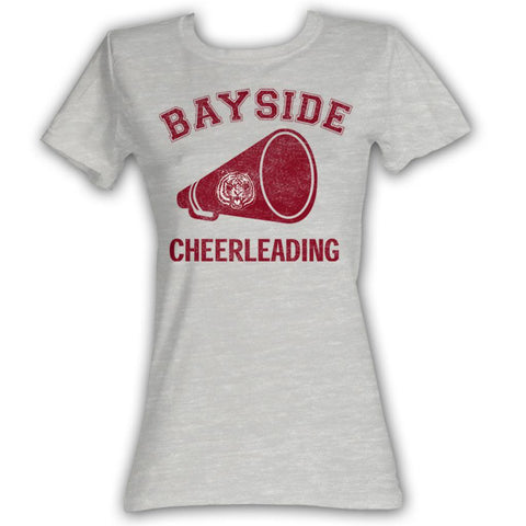 Saved By The Bell Juniors S/S T-Shirt - Cheerleading - Heather Gray Heather