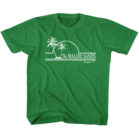 Saved By The Bell Toddler S/S T-Shirt - Malibu Sands - Heather Vintage Green