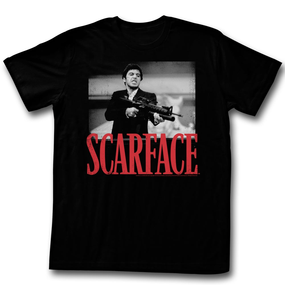 Scarface Mens S/S T-Shirt - Shootah - Solid Black