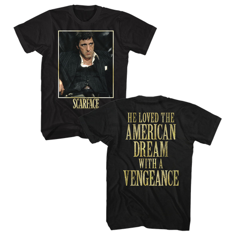 Scarface Adult S/S T-Shirt - Bad Guy - Solid Black
