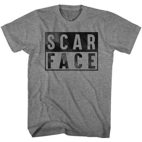 Scarface Adult S/S T-Shirt - Boxed - Heather Graphite Heather