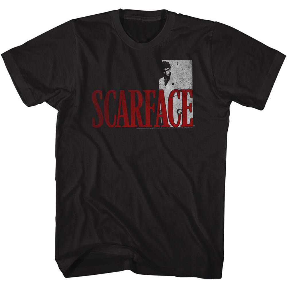Scarface Mens S/S T-Shirt - Sfredwhite - Solid Black