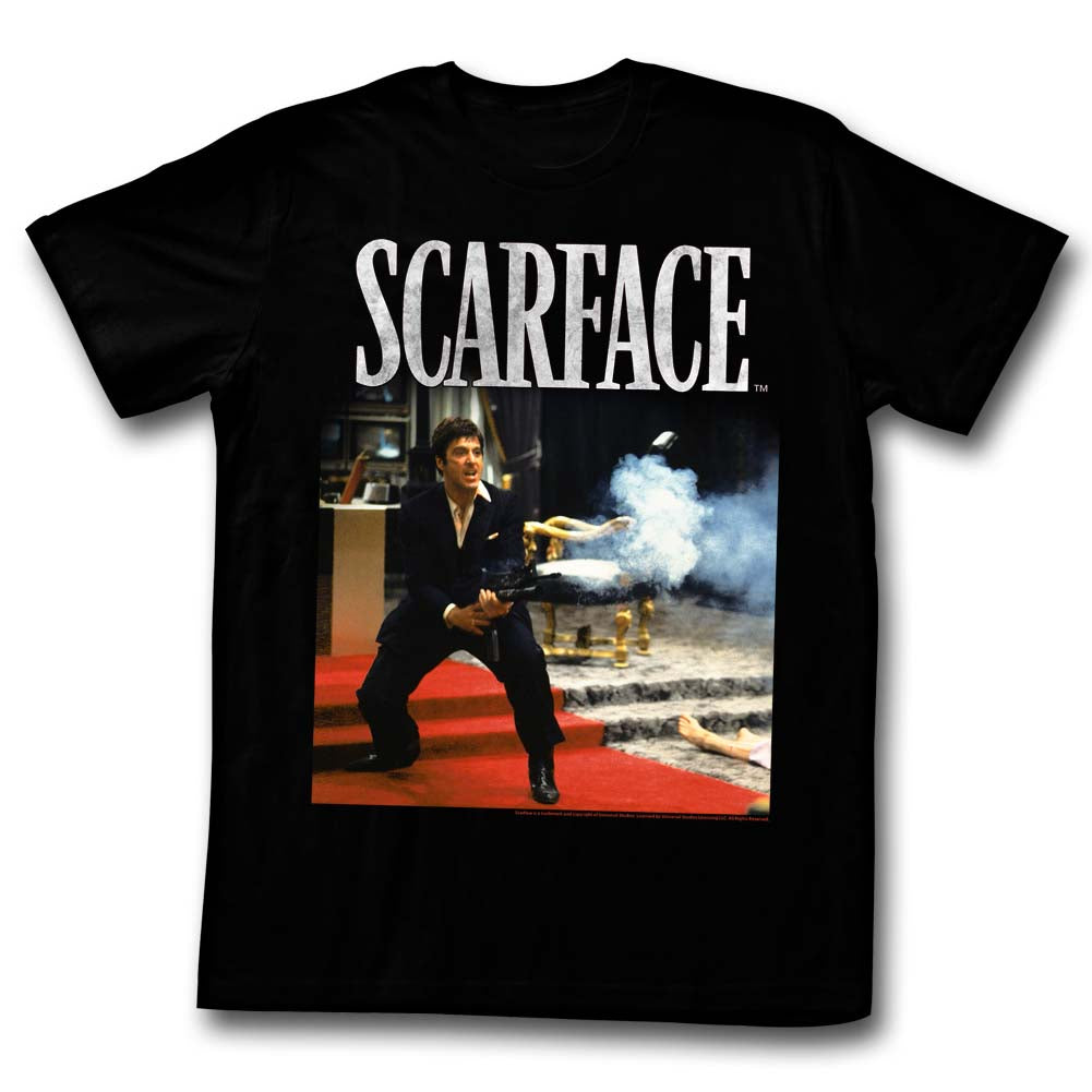 Scarface Mens S/S T-Shirt - Hello Friend - Solid Black