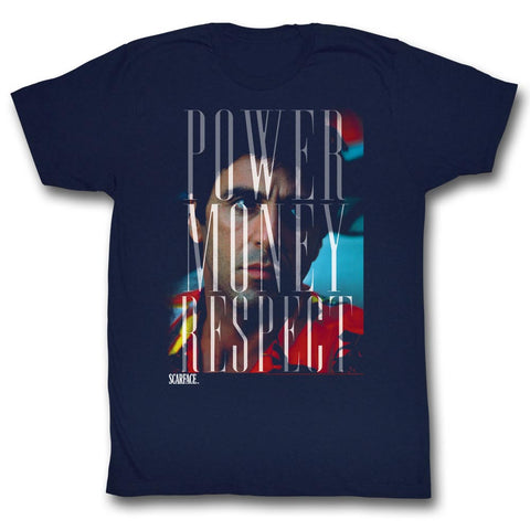 Scarface Adult S/S T-Shirt - Pmr - Solid Navy
