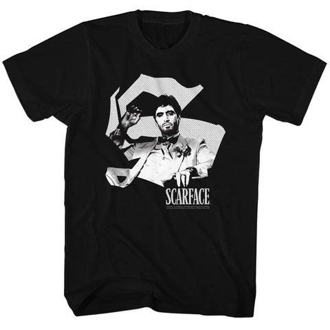 Scarface Mens S/S T-Shirt - Scar S - Solid Black