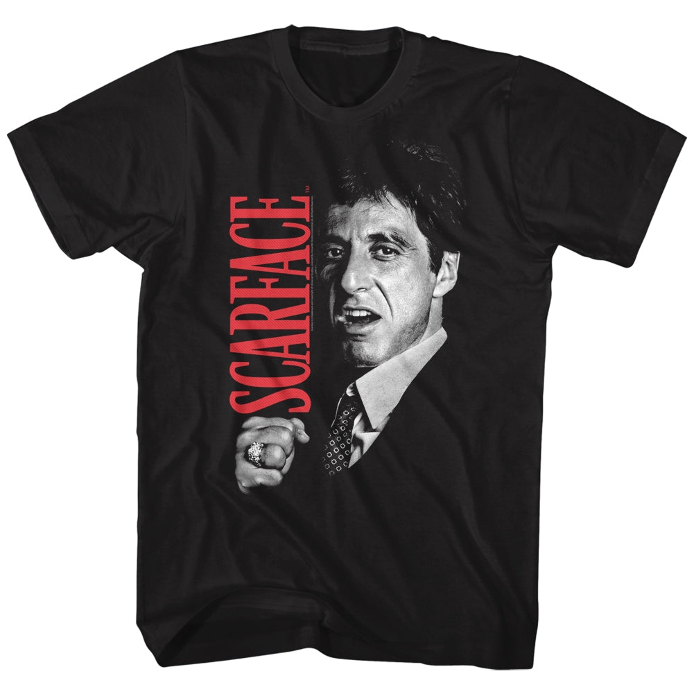 Scarface Mens S/S T-Shirt - Tony Close-Up - Solid Black
