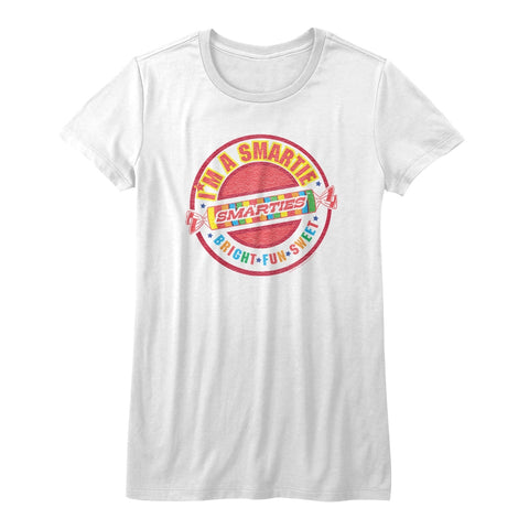 Smarties Juniors S/S T-Shirt - I'M A Smartie - Solid White