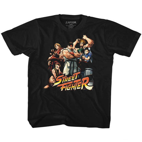 Street Fighter Toddler S/S T-Shirt - Cool Kids - Solid Black