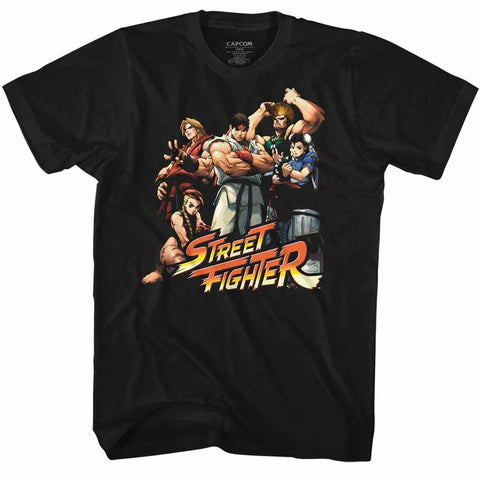 Street Fighter Adult S/S T-Shirt - Cool Kids - Solid Black
