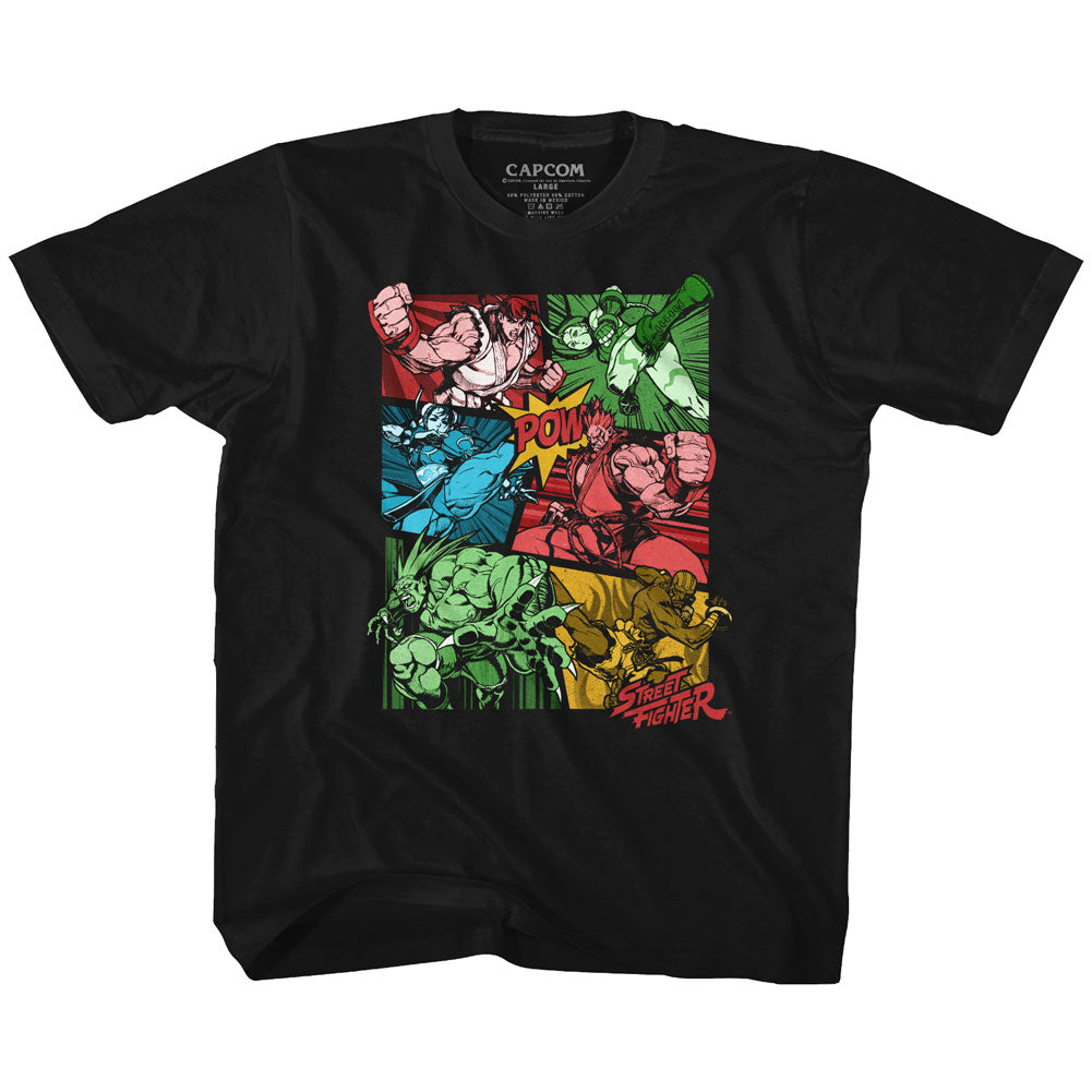 Street Fighter Youth S/S T-Shirt - Grow Up - Solid Black
