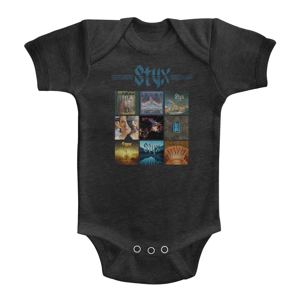 Styx Infant S/S Heather Bodysuit - Album Grid - Heather Vintage Smoke